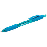 Paper Mate Profile Retractable Ball Point Pen, 1.4mm, Bold Point, Turquoise Ink, Pack of 36