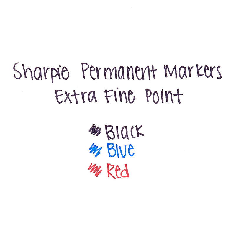 Sharpie Permanent Marker, Extra Fine Point, Black, Pack of 288