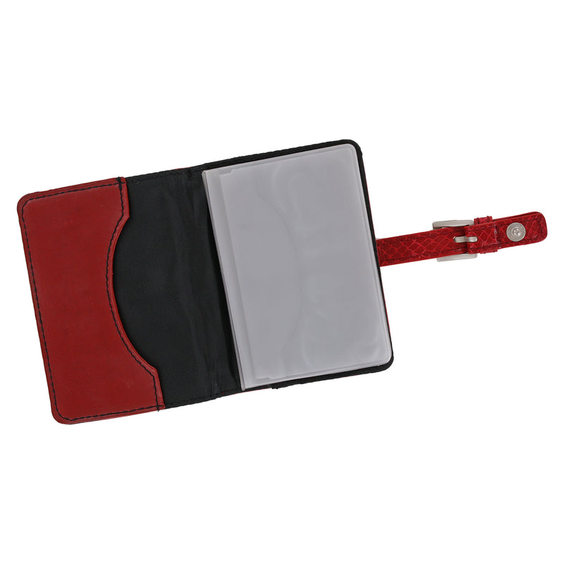 Rolodex Personal Card Case Holds, 36 Card Capacity, Red (68234)