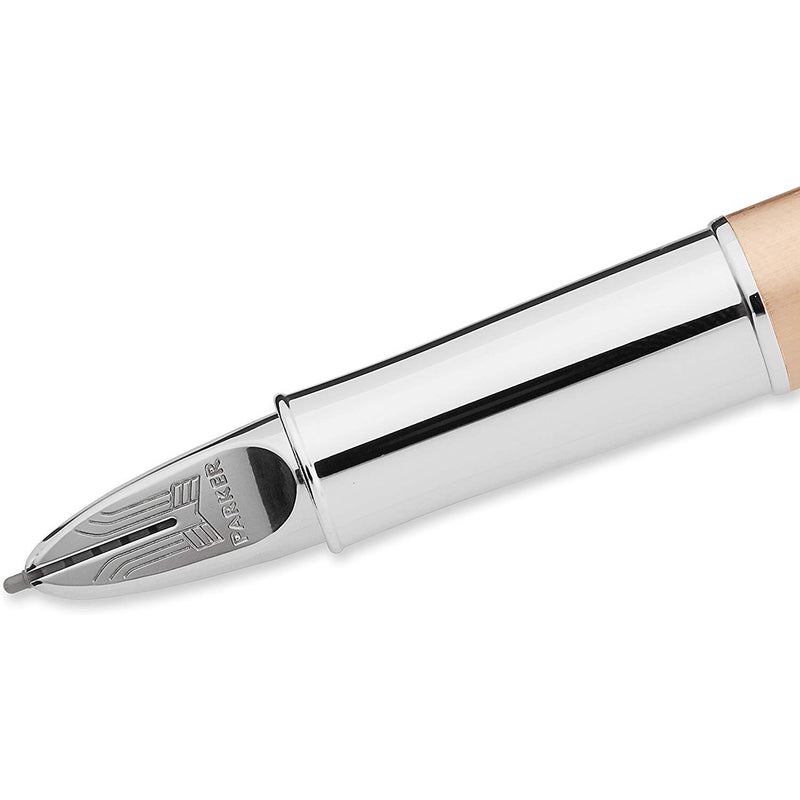 Parker Pink Gold 5th Technology Ink Pen with Medium Black Refill (S0975890)