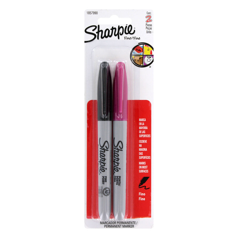 Sharpie Permanent Marker, Fine Point, Assorted Colors, 6-Count - Pens N More