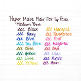 Paper Mate Flair Felt Tip Pens, Medium Point, Assorted Fashion Colors, 6-Count