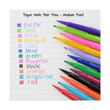 Paper Mate Flair Felt Tip Pens, Medium Point, Assorted Colors, 12-Count