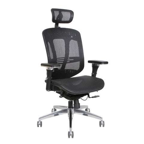 Thorntonu0027s Office Supplies ErgoExec High Back Mesh Executive Swivel Office  Chair, Black
