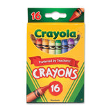 Crayola Crayons, Classic Colors, Nontoxic, 16/Pack (52-3016)
