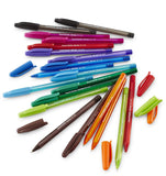 Paper Mate InkJoy 100ST Stick Ball Point Pens, 1.0mm, Medium Point, Assorted Colors, 18-Count