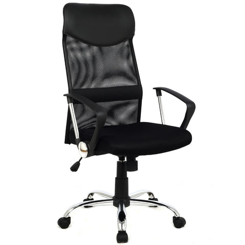 Modern Ergonomic Mesh High Back Executive Computer Desk Task Office Chair - Black