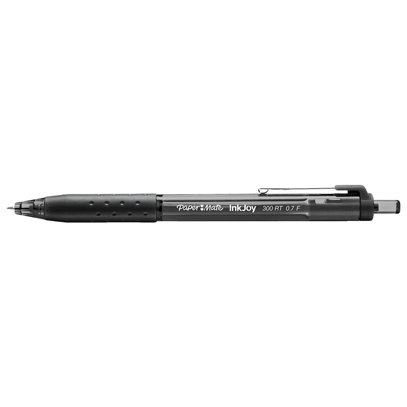 Paper Mate InkJoy 300RT Retractable Ball Point Pens, 0.7mm, Fine Point, Black Ink, 144-Count