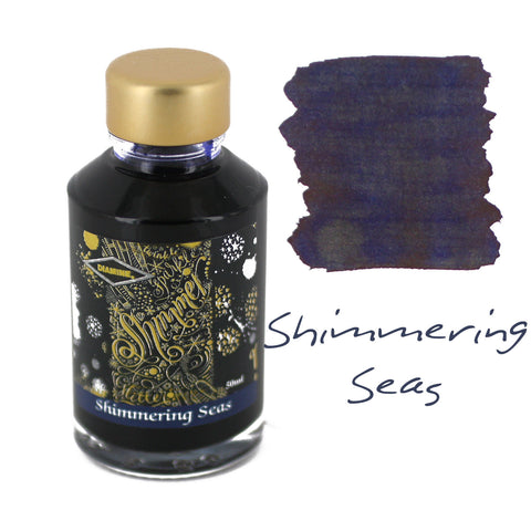 Diamine Fountain Pen Bottled Ink, 50ml - Shimmering Seas