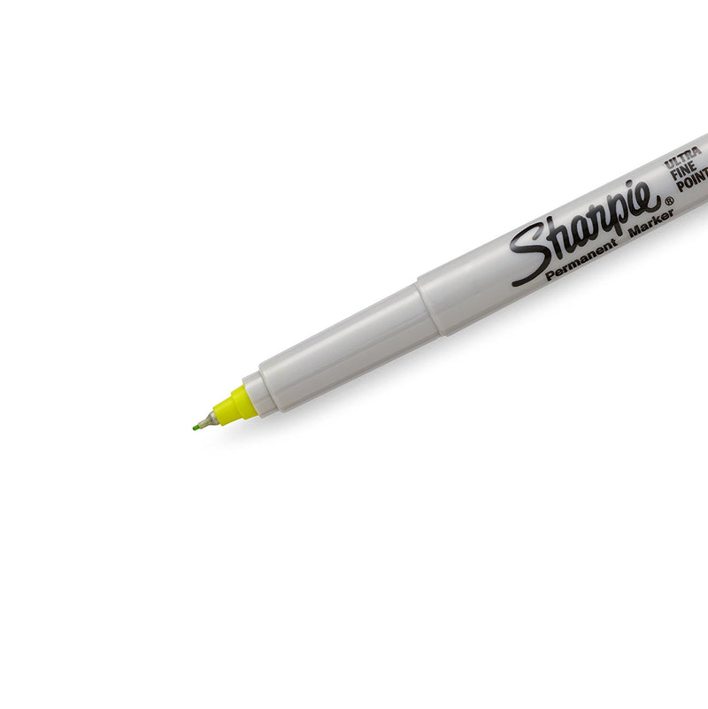 Sharpie Permanent Marker, Ultra Fine Point, Supersonic Yellow, Each