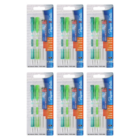 Paper Mate Clear Point Mechanical Pencil Starter Set, 0.7mm, Randomly Assorted, 2-Count Set, 6 Packs