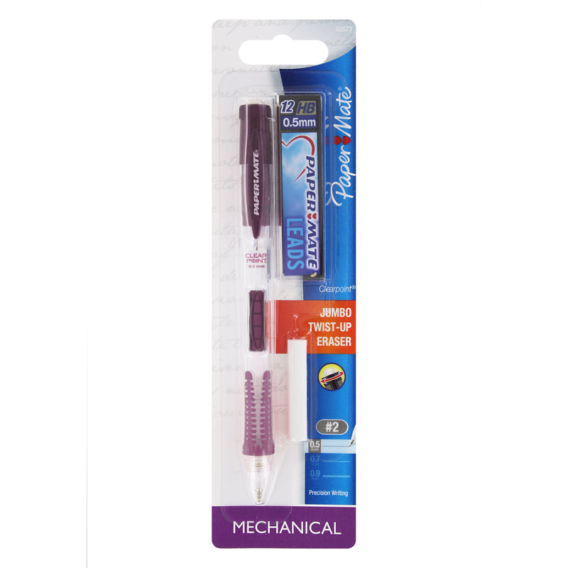 Paper Mate Clear Point Mechanical Pencil, 0.5mm, Starter Kit (Colors May Vary)