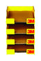 3M  11 in. H x 9 in. W Yellow  Sandpaper Tray Racks