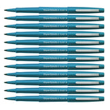 Paper Mate Flair Felt Tip Pens, 0.7mm, Medium Point, Turquoise Ink, 12-Count