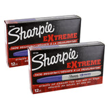 Sharpie Extreme Permanent Marker, Fine Point, Blue Ink, Pack of 24
