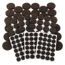 Junipers Heavy-Duty Premium Durable Self-Stick Felt Furniture Floor Pad Protectors, Assorted Sizes, Pack of 152 - Brown