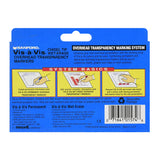 Sanford Vis-A-Vis Wet-Erase Markers, Chisel Tip, Assorted Colors, Pack of 4