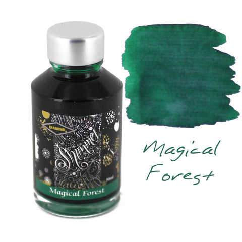 Diamine Fountain Pen Bottled Ink, 50ml - Shimmering Magical Forest