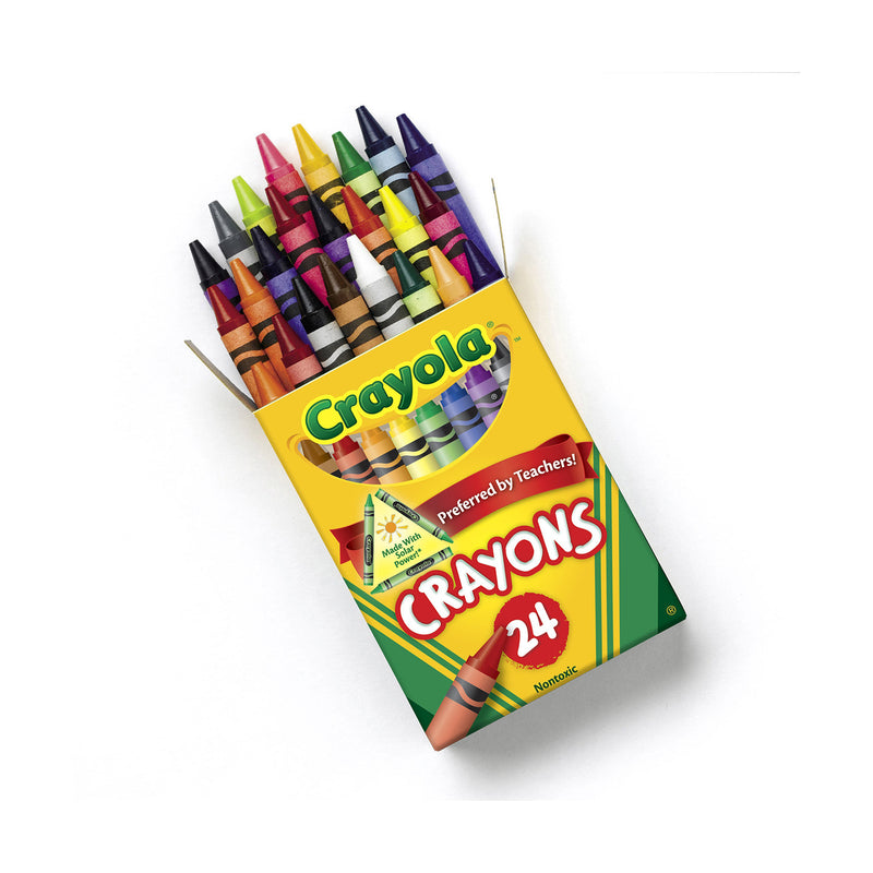 Crayola Classic Color Crayons, Assorted, 24 Pack (52-3024)