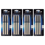 Uni-Ball Vision Deluxe Stick Roller Ball Pen, 0.7mm, Fine Point, Black Ink, 12-Count