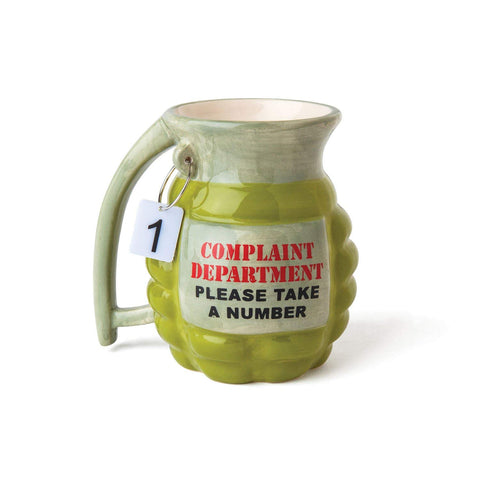 Big Mouth Toys Grenade Mug - Take a Number Design, Holds 12 oz (1430)