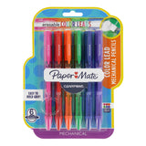 Paper Mate Clear Point Color Lead Mechanical Pencils, 0.7mm, Assorted Colors, 6 Count