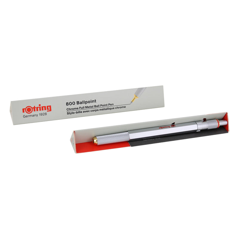 Medium Point Black rOtring 800 Retractable Ballpoint Pen