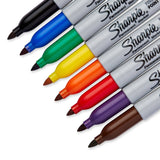 Sharpie Permanent Markers, Fine Point, Assorted Colors, 8-Count