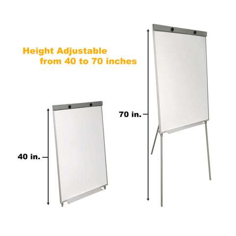 Thornton's Office Supplies Magnetic Tripod Dry Erase Flip Chart Board, 39 x 27