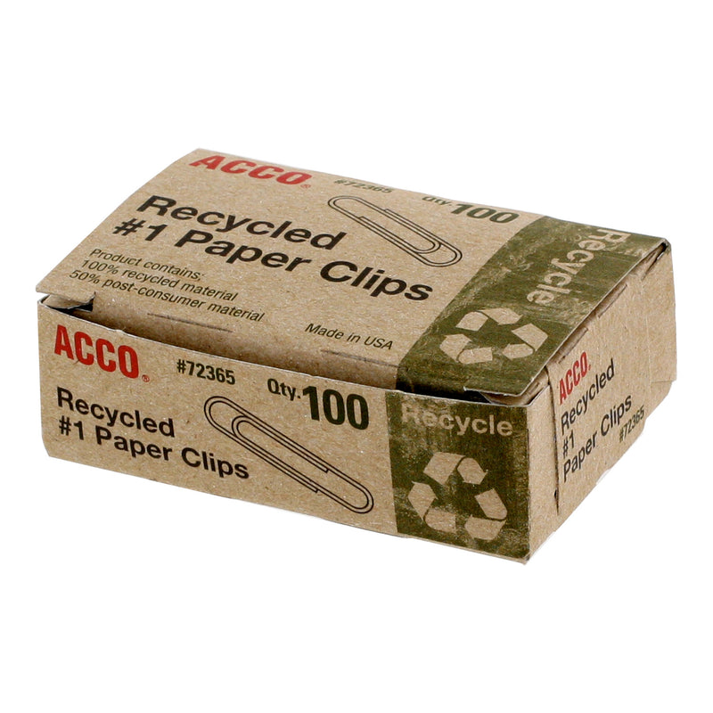 Acco Recycled Paper Clips,