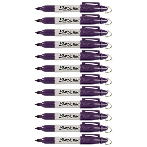 Sharpie Mini Permanent Marker, Fine Point, Valley Girl Violet, Pack of 48