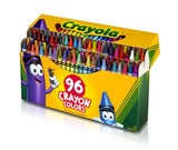 Crayola Classic Color Wax Crayons, Assorted 96 Count (52-0096)