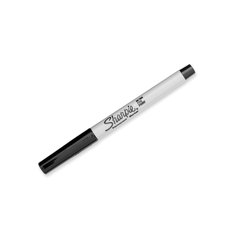 Sharpie Permanent Marker, Ultra Fine Point, Black Ink, Pack of 144 (Shrink Wrap)