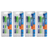 Paper Mate Clear Point Mechanical Pencil Starter Set, 0.9 mm, Lime Green, Royal Blue, Set of 8