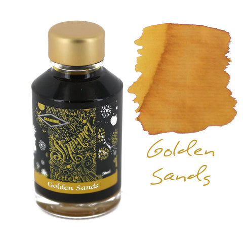 Diamine Fountain Pen Bottled Ink, 50ml - Shimmering Golden Sands