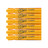 Mr. Sketch Scented Watercolor Movie Night Marker, Chisel Tip, Nacho Cheese, Orange, 6-Count