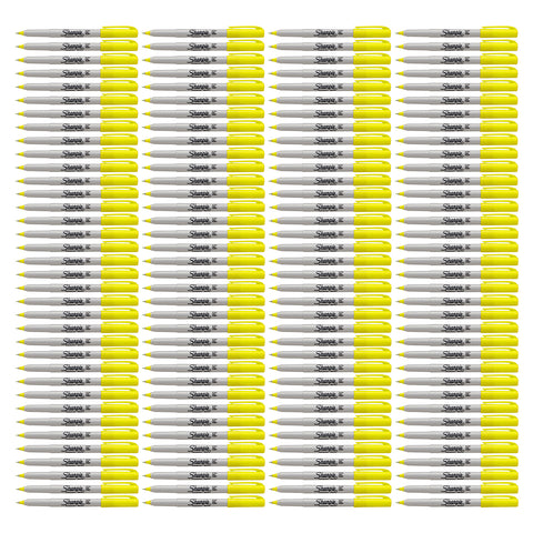 Sharpie Permanent Marker, Ultra Fine Point, Supersonic Yellow, 144-Count