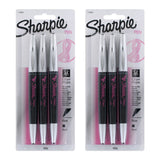 Sharpie Pink Ribbon Grip Porous Point Pen, 0.8mm, Fine Point, Black Ink, 6-Count