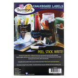 Thornton's Art Supply Premium Chalkboard Labels with 2 White Liquid Chalk Markers - Fantastic For Labeling Jars - 48 Labels