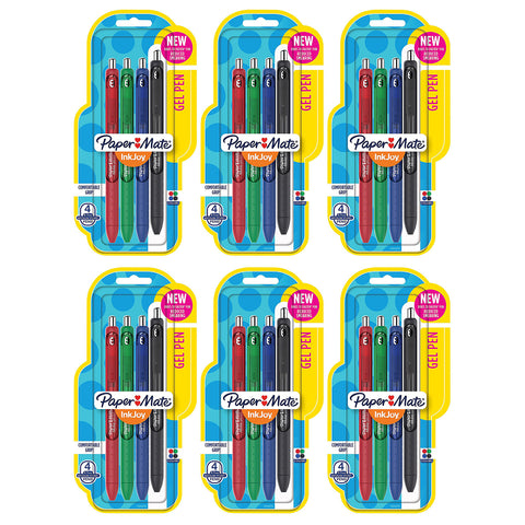 Paper Mate InkJoy Gel Pens, 0.7mm, Medium Point, Assorted Colors, 24 Count