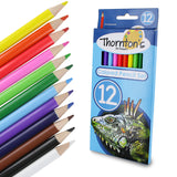 Thornton's Art Supply 12 Piece Colored Pencil Artist Drawing Set