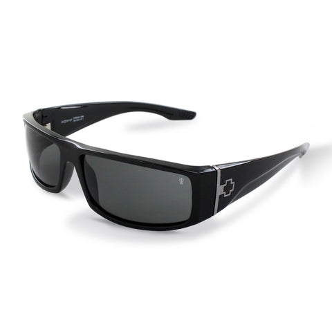 Spy Optic Cooper Black Gloss Sunglasses, Polarized Grey Lens