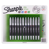 Sharpie Grip Porous Point Stick Pen, 0.5mm, Fine Point, Assorted Ink, Pack of 12