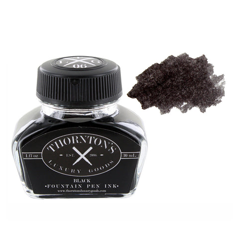 Thornton's Luxury Goods Fountain Pen Ink Bottle, 30ml - Black