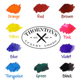 Thornton's Luxury Goods Short Standard International Fountain Pen Ink Cartridges, Purple Ink, Pack of 12