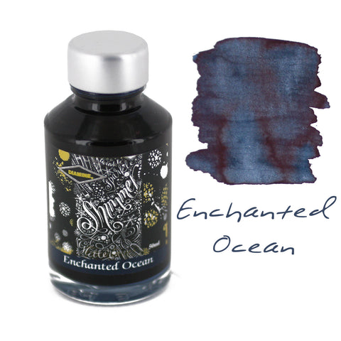 Diamine Fountain Pen Bottled Ink, 50ml - Shimmering Enchanted Ocean
