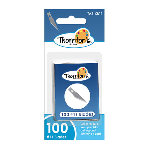 Thornton's Art Supply #11 Classic Fine Point Hobby Blades, Bulk Pack, 100 Blades per Box