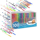 Thornton's Art Supply Premium Assorted Colors Gel Pens, Assorted Ink - Set of 100