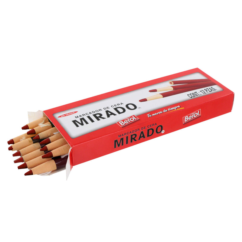 Berol Mirado Peel Off China Marker, Red, Pack of 48