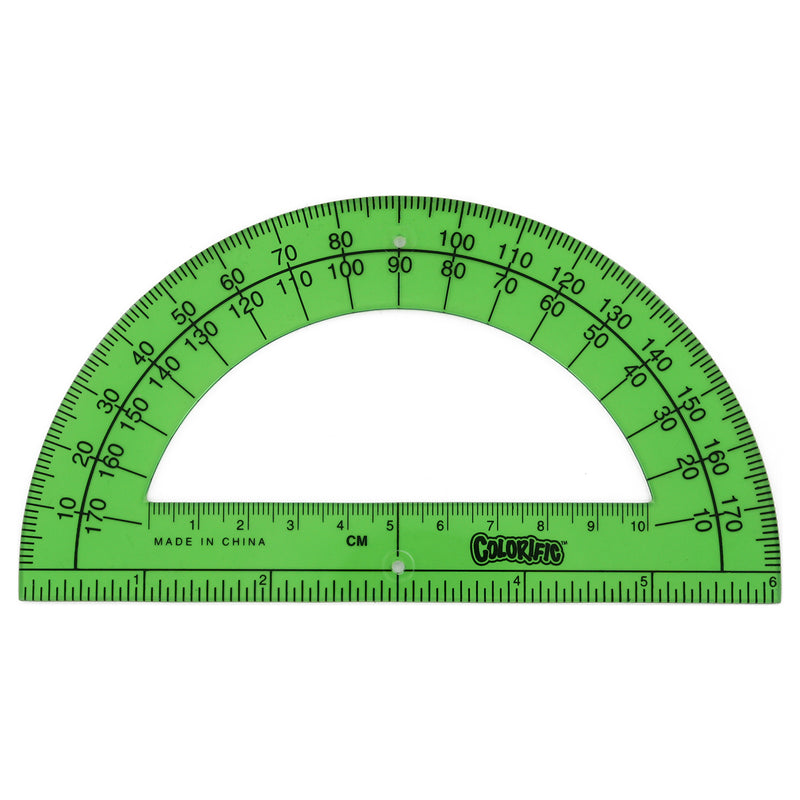 Sanford Colorific 6 Inch Translucent Plastic Ruler/Protractor (Colors May Vary)